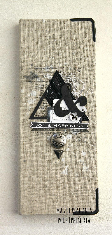 Coins, pastilles, carnet, galon adhésif noir, étiquette et micro cabochon Ephéméria by Mag de Rose Anis