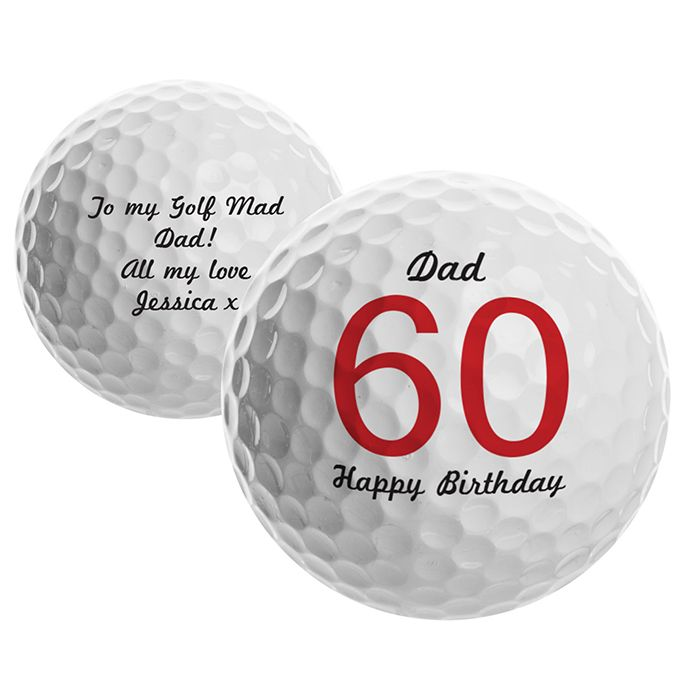 Personalised Big Numbers Birthday Golf Ball This golf ball can be personalised with the name, birthday age up to 2 characters and an additional line up to 15 characters on the front, along with any message on the reverse up to 4 lines,