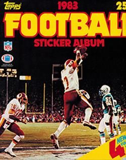 1983 Topps Football Sticker Album
