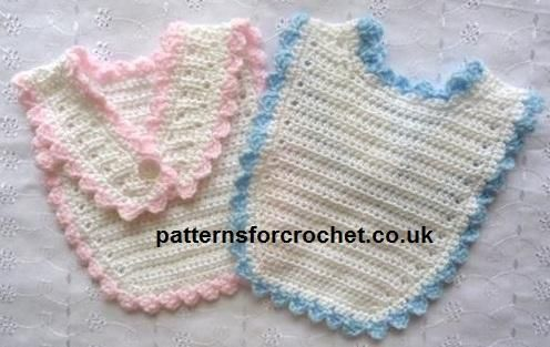 Thread Crochet Baby Bib Pattern : 78+ images about Bibs for Baby-Crochet on Pinterest ...