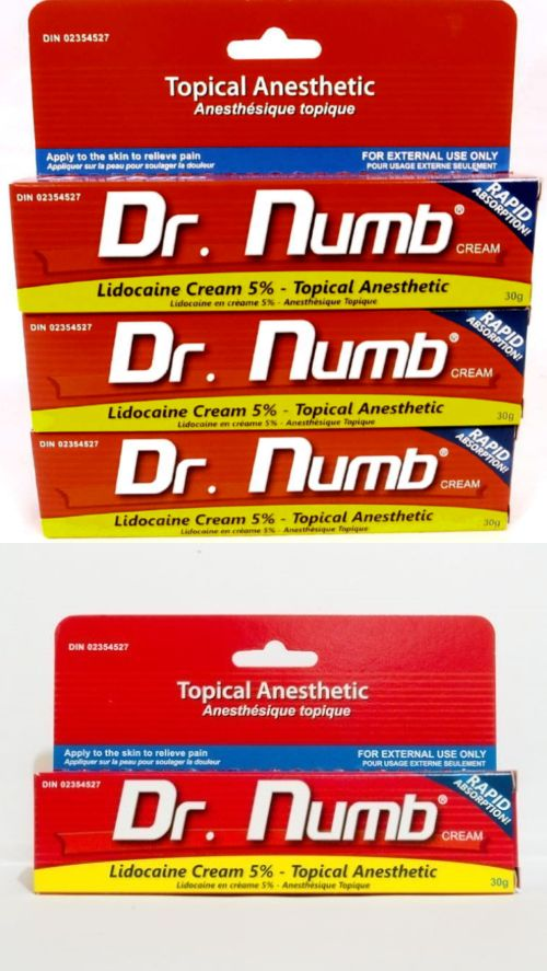 Tattoo Supplies: 3 X Dr Numb 5% Lidocaine Cream 30 Gr Skin Numbing Tattoo/Removal Waxing Piercing BUY IT NOW ONLY: $88.0