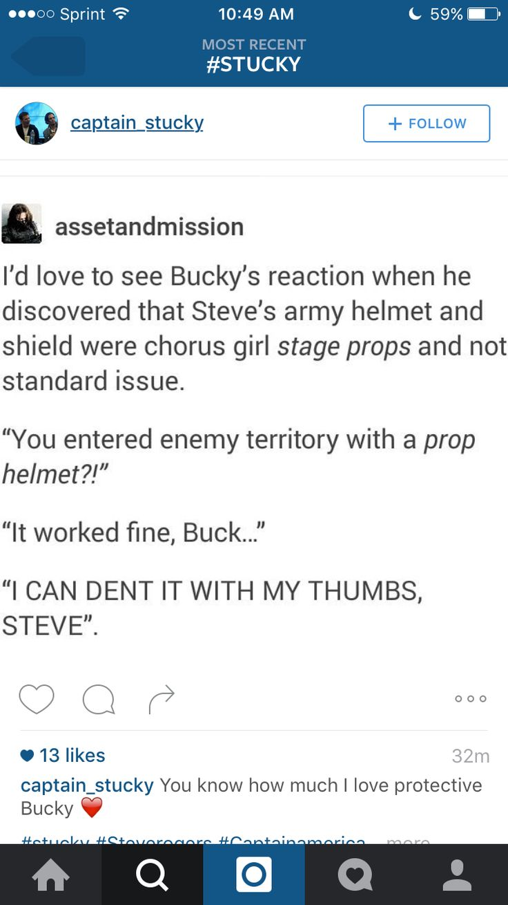 If you don't ship Stucky, you're wrong, because you don't put up with the shit Bucky Barnes put up with if the other person isn't your soulmate.