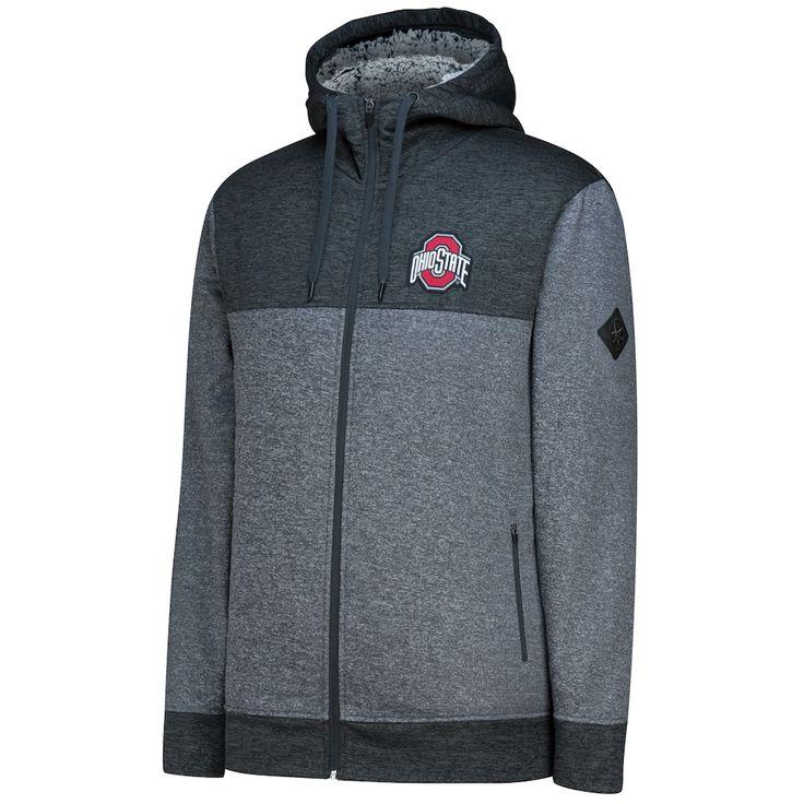 Men's Ohio State Buckeyes Cloud Colorblock Fleece Hoodie, Size: Medium, Grey