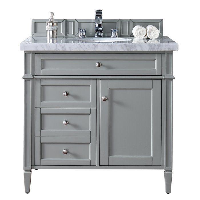 Brittany 35 Single Bathroom Vanity Base Only In 2020 Grey Bathroom Vanity Single Bathroom Vanity Bathroom Vanity Base