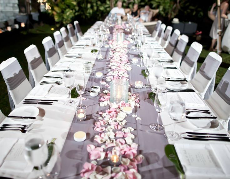 Bali Wedding Reception Table Setup