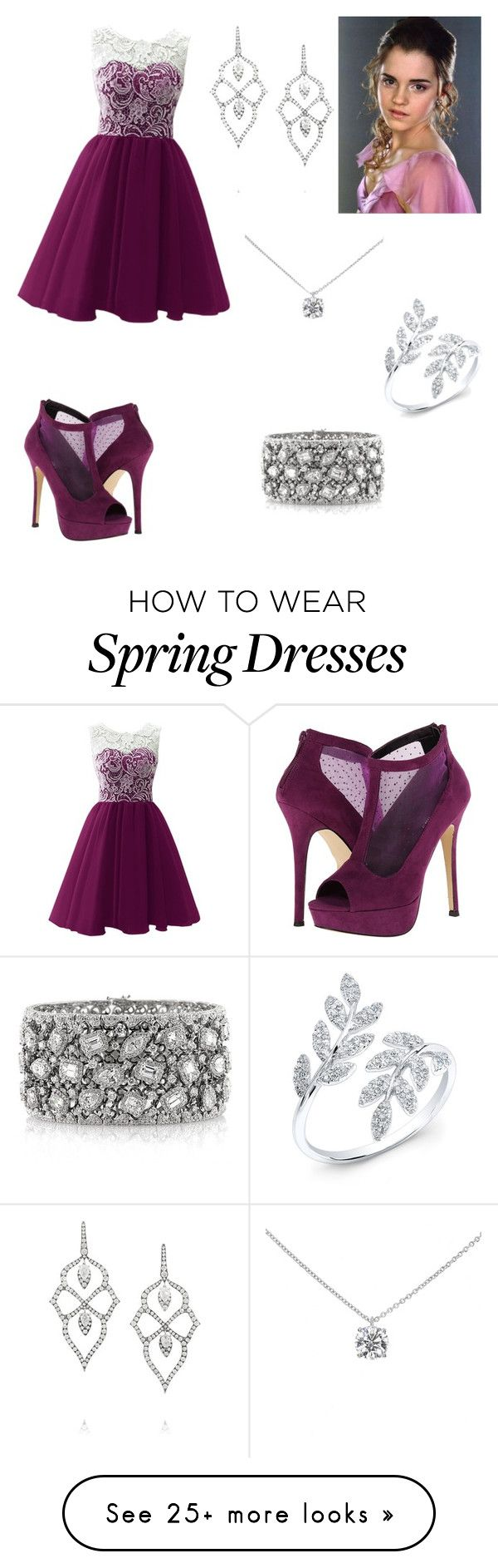 """""""Hermoine @ the ball"""" by lawlorffsweetheart on Polyvore featuring moda, Call it SPRING, Mark Broumand, Tiffany & Co. y Stephen Webster"""