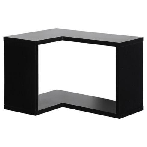 Repisa esquinera MDF 26x30x40 cm Negro
