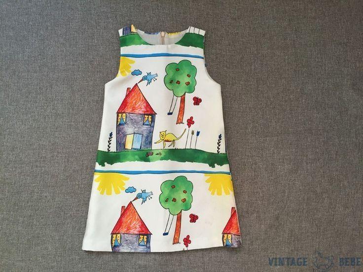 Vintage Graffiti Dress
