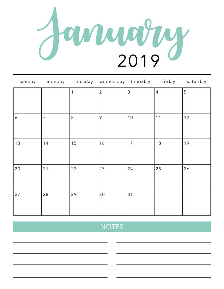 FREE 2021 Printable Calendar Template (2 colors!) - I ...
