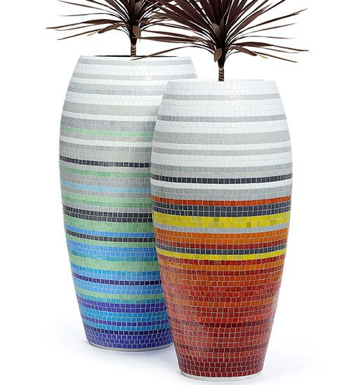 Mosaic planters www.obbligato.co.za
