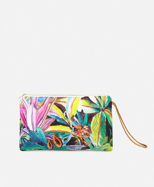Tropical print clutch - OYSHO