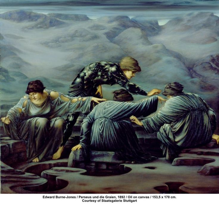 Edward Burne-Jones / Perseus und die Graien, 1892 / Oil on canvas / 153,5 x 170 cm. Courtesy of Staatsgalerie Stuttgart