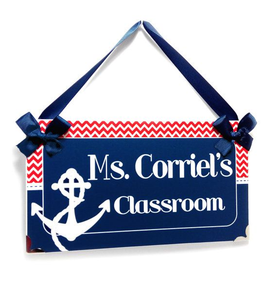 personalized anchor nautical themed teacher name by kasefazem