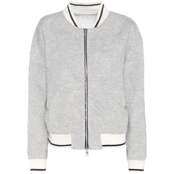 Rag & Bone Jacquard Jersey Bomber ($280) ❤ liked on Polyvore featuring outerwear, jackets, coats & jackets, grey, grey jacket, jacquard jacket, jersey jacket, gray jacket and bomber style jacket