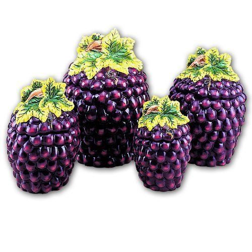 grape 3 d canisters set of 4 by marcel imports 89 99