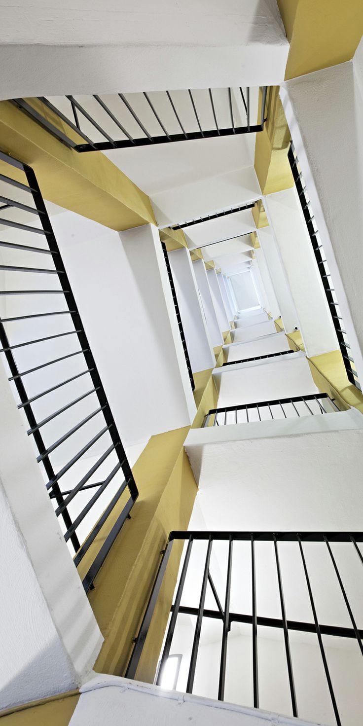 Staircase at Juvelkvarnen residential area, Gotenburg | Semrén & Månsson