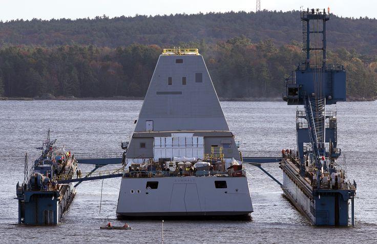 11-02-13 USS Zumwalt -hits-water-largest-navy-destroyer-ever/