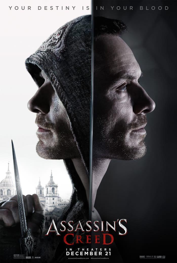 Assassin's Creed | Michael Fassbender está dividido em novo cartaz do filme | Omelete