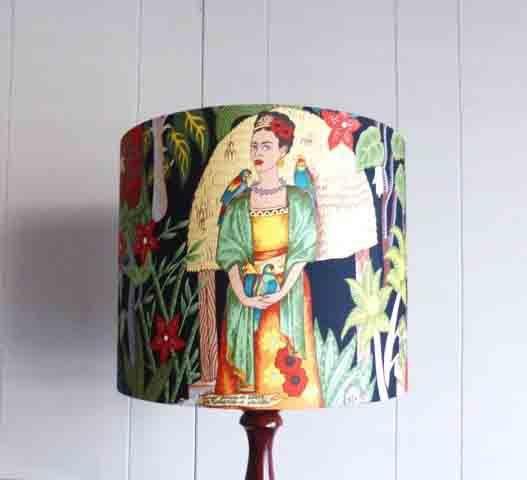 Frida Kahlo Black Shade 30d x 25h $80