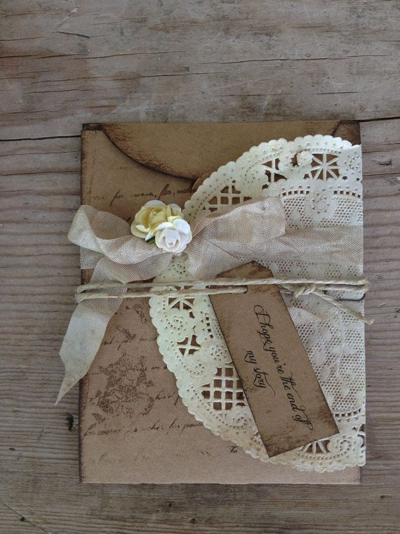 Country Chic Favors | Rustic Wedding Invitation Country Chic Invitations by ShabbyScrap