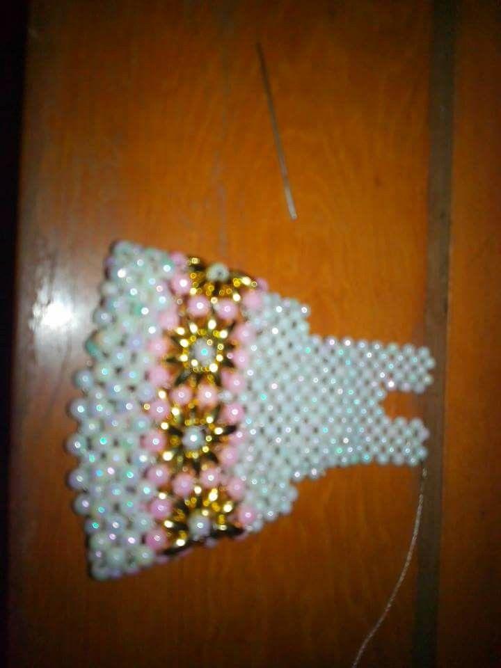 Paso a paso vestido en perlas