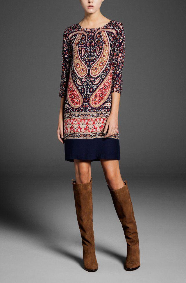Платья свободного покроя длинный рукав, женщины винтажный тотем цветочный узор с низким вырезом на спине миди сексуальный с круглым вырезом вечернее vestido женское роковойкупить в магазине IDOL Fashion (offer Drop shipping)  наAliExpress