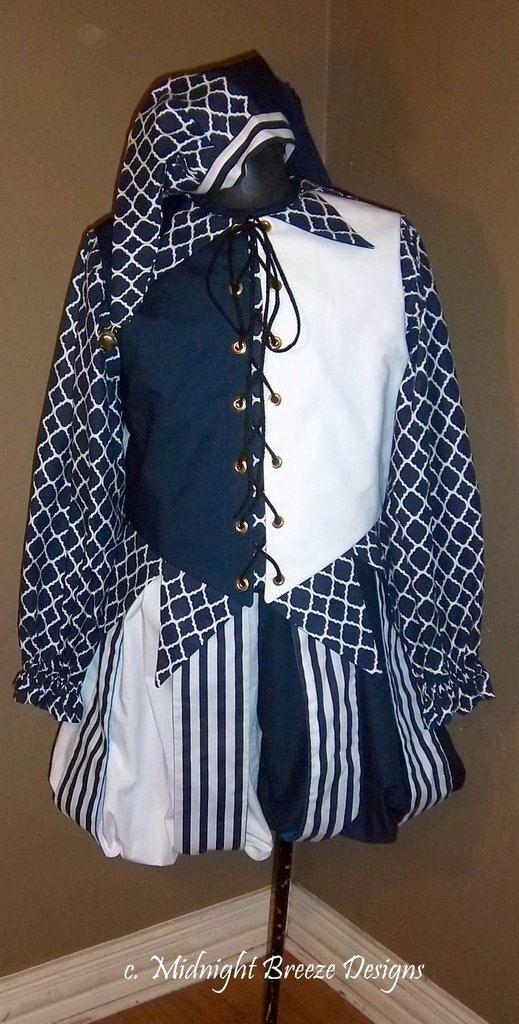 NEW, Ready to Wear Renaissance Jester Costume - Men/Women - Chest 38-40, Waist 34-36