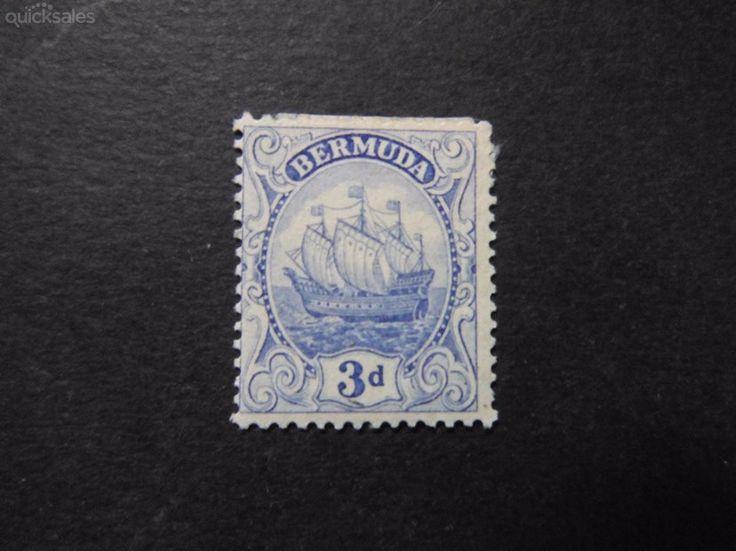 Bermuda Sailing ships 3d   stamp MLH by jones101 - $10.00