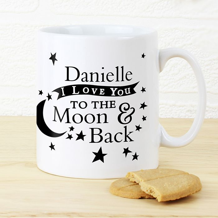 27 best personalised gift for him images on pinterest gifts uk personalised to the moon back mug httpjusttherightgift negle Choice Image