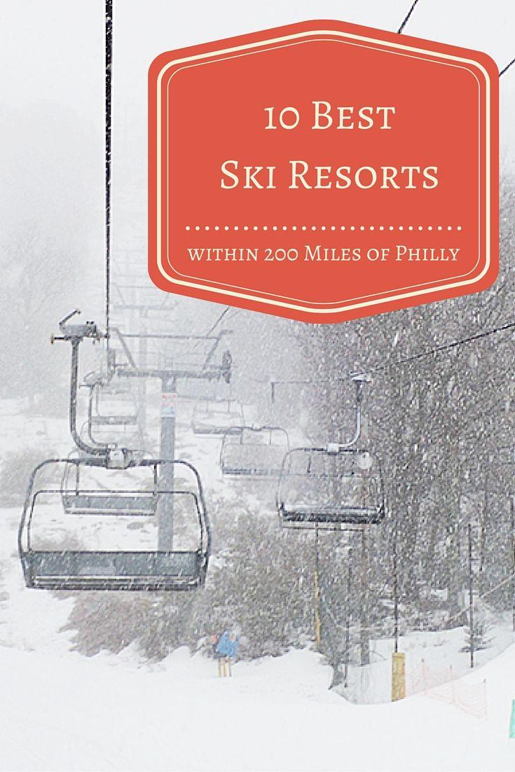 Let's hit the slopes at one of the 10 best ski resorts within 200 miles of Philadelphia. #SkiResorts #Skiing #snowboarding #resorts #tourism #tourismpennsylvania #poconos #ski #winter #familyvacations