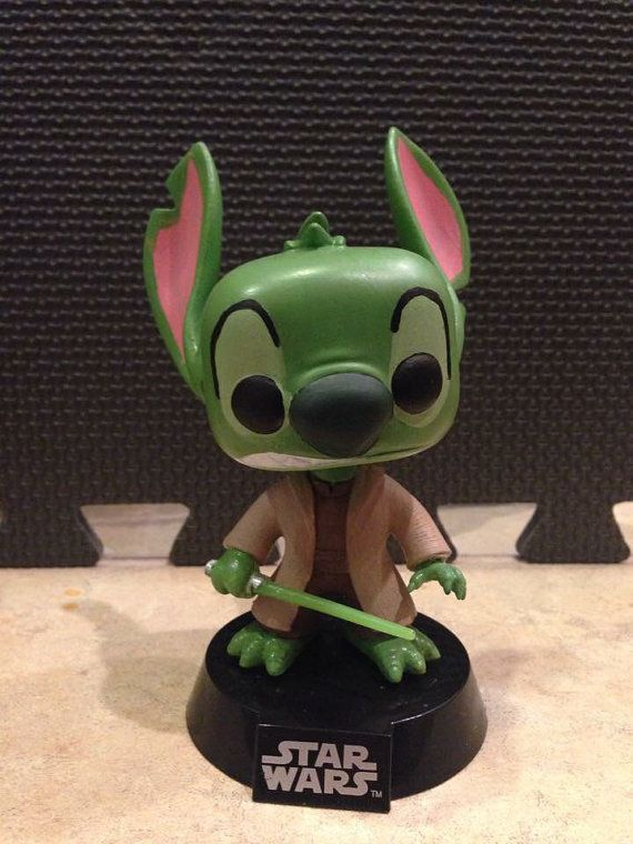 Yoda Stitch Custom Funko Pop Figure By Kemilycustoms On
