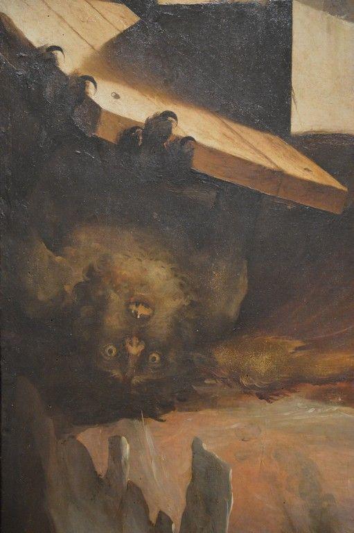 Siena  Domenico Beccafumi (1486-1551) Cristo al Limbo details (my photo)