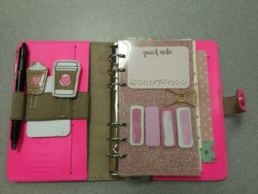 Filofax Original Personal Fluoro Pink