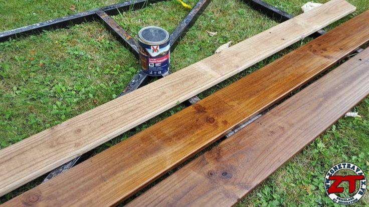 Les 58 meilleures images propos de cr ations de for Restauration d une table en bois