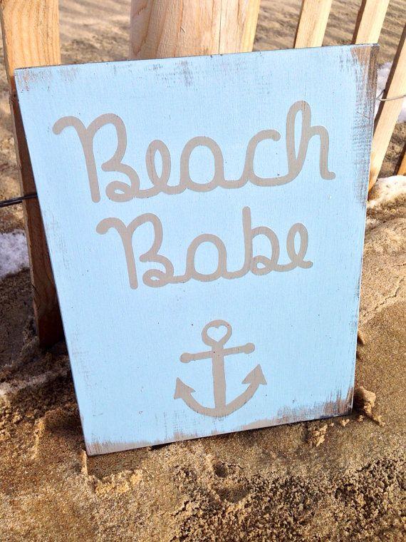 Beach Nursery Sign Beach Nursery Decoration Nautical by SaltyLove
