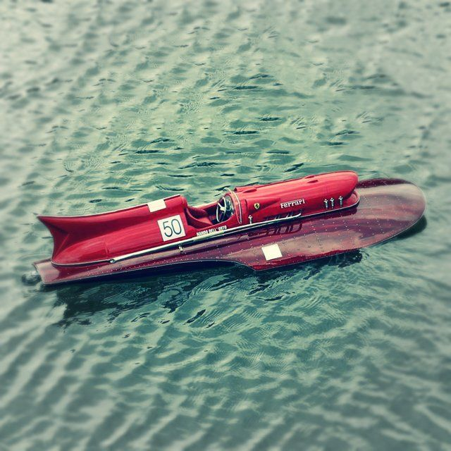 RC Ferrari Race Boat - $197