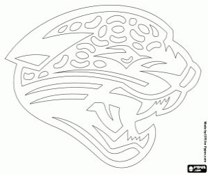 Coloriage Logo de Jacksonville Jaguars