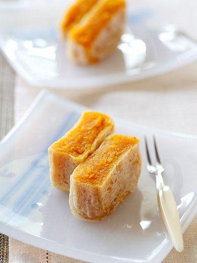 Japanese sweets, Kabocha Kintsuba かぼちゃの金つば