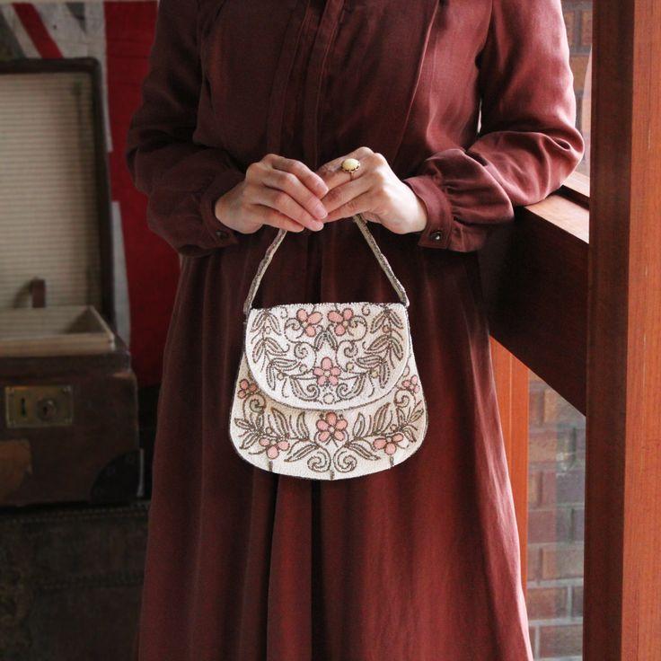 C1920-30 French Antique Beaded Bag / フレンチ・アンティークビーズバック