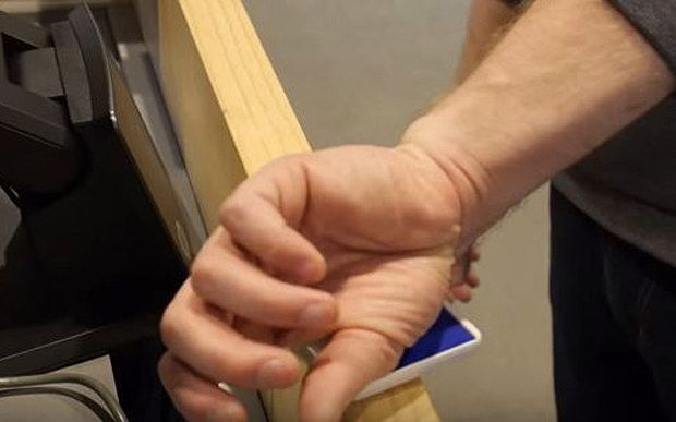 Man uses microchip implanted in hand to pass through airport security | No boarding pass required for Andreas Sjöström, who becomes the first person to use new microchip technology to breeze through an airport [The Future Of Passwords: http://futuristicnews.com/tag/password/ Implants: http://futuristicnews.com/tag/implant/]