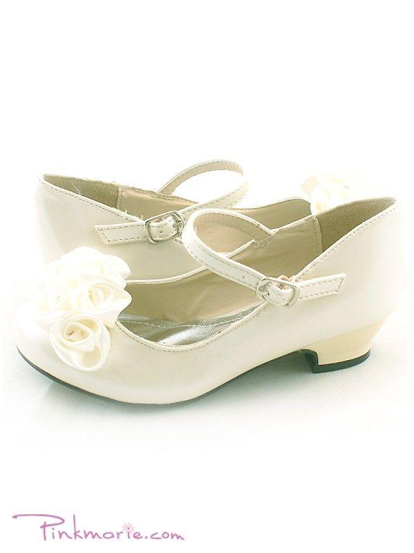 flower girl sandals | Home » Ivory Roses Ornamental Flower Girl Shoes