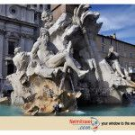 Fountain of the Four Rivers in Rome