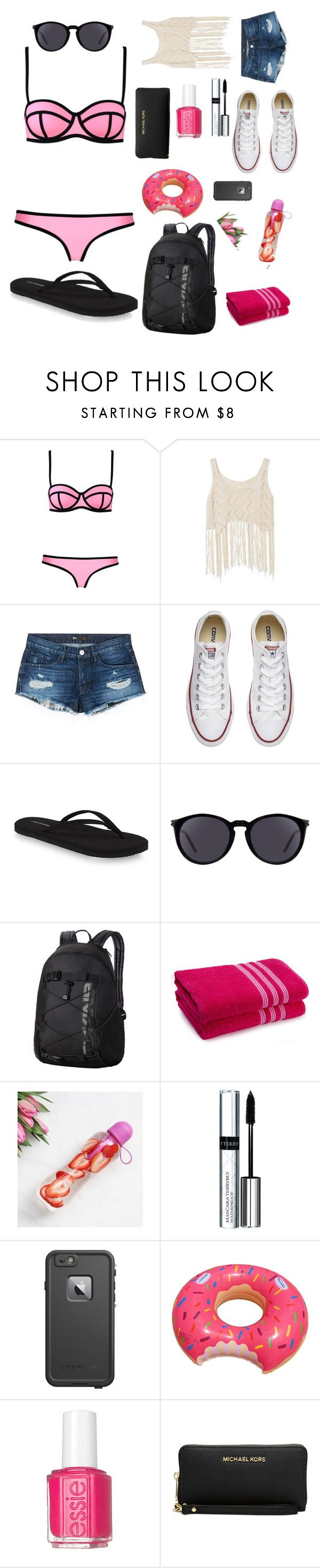 """pool day outfit  😍🌊🏊"" by soap3 ❤ liked on Polyvore featuring Milly, 3x1, Converse, Yves Saint Laurent, Dakine, By Terry, LifeProof, Essie and Michael Kors"