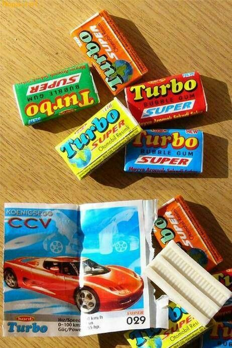Turbo chewing gum