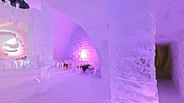 Hoteles de hielo. Hotel de Glase. Canada