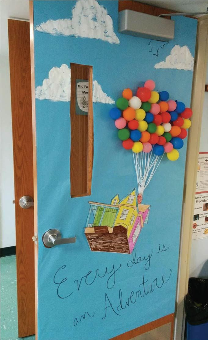 Toddler Classroom Door Decoration ~ Classroom door hot air balloon idea visited times