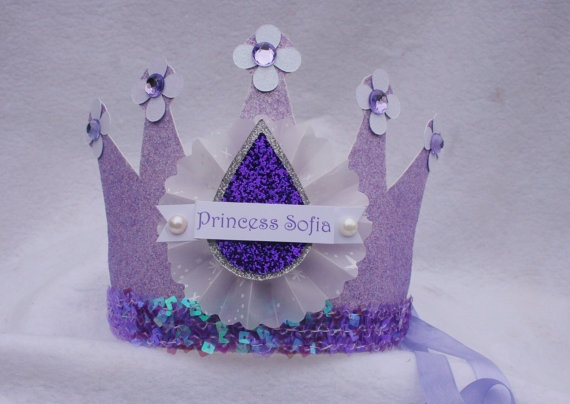 Sofia the First Party Crown Birthday Hat
