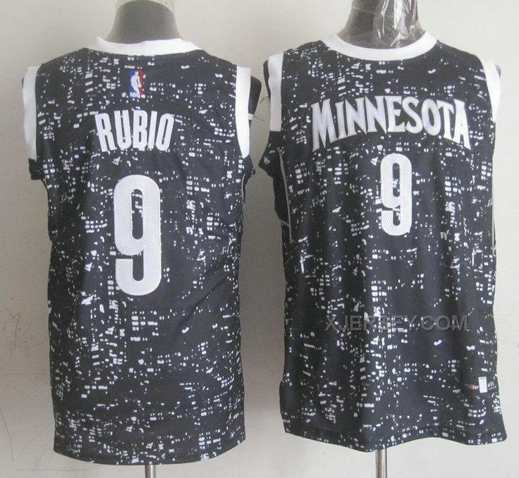2369a7a0530 Minnesota TimberwolvesRetail Adidas NBA Minnesota Timberwolves 9 Ricky Rubio  Throwback Soul Swingman Black ...
