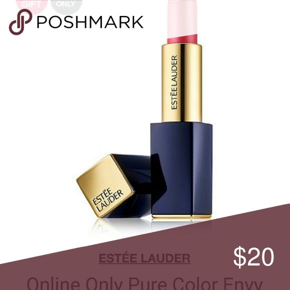 "NEW Estee Lauder lip stick and Blush Pure color envy ""powerful"" lipstick. Blush included 220 Pink Kiss. Large lip stick/small blush. Estee Lauder Makeup Lipstick"