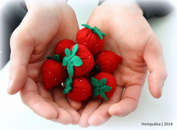 felt strawberries